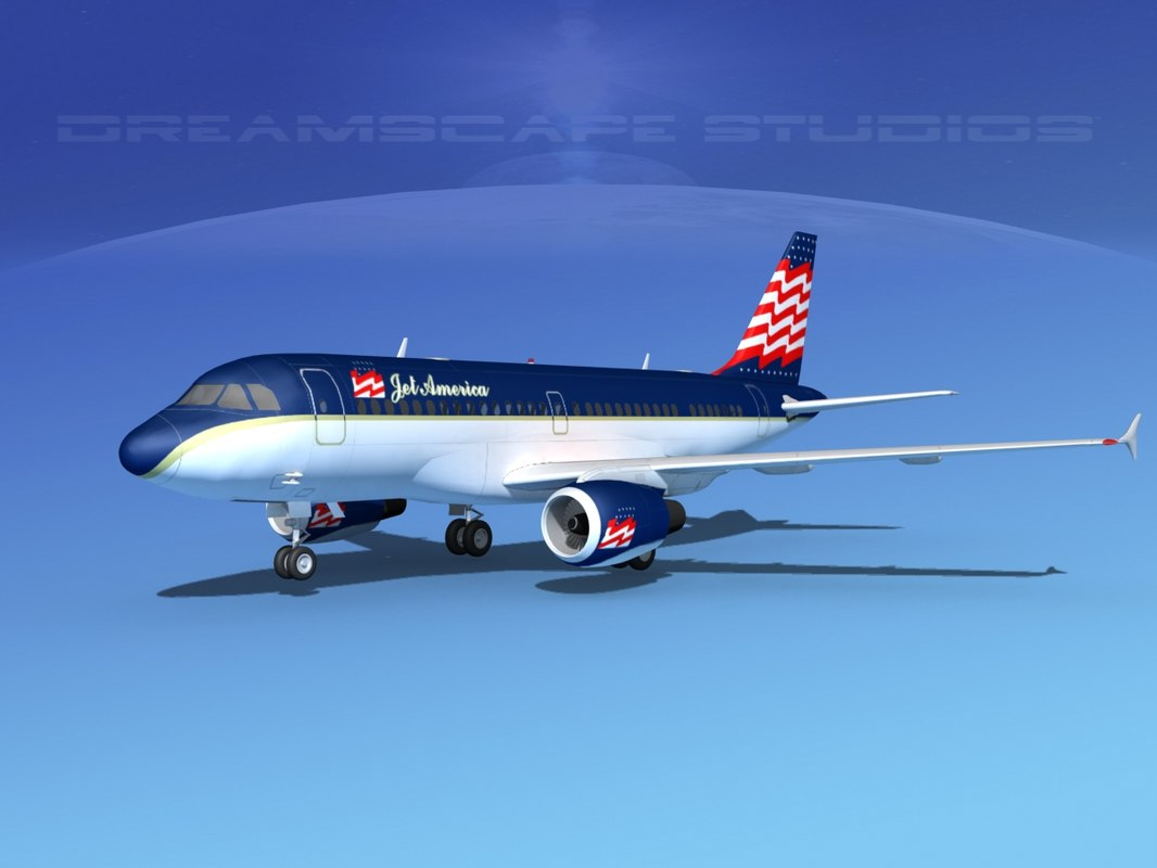 3d scale airbus a319 jet
