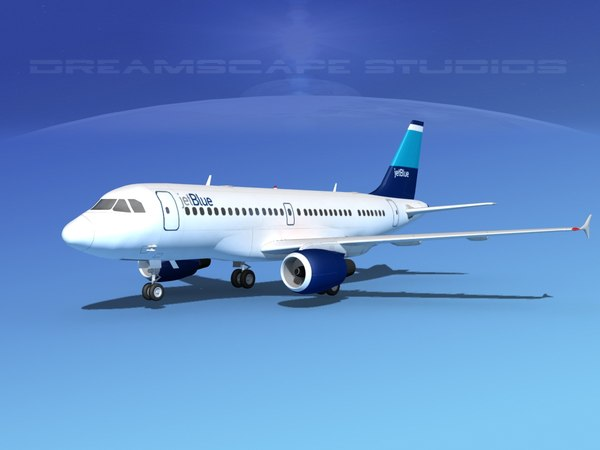 3d model scale airbus a319 jet