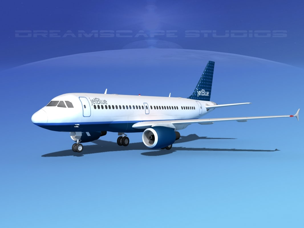 scale airbus a319 jet 3d model