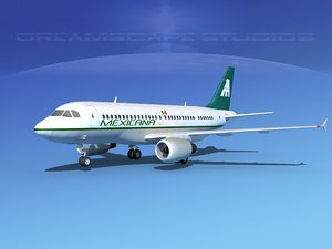 scale airbus a319 airliner 3d model