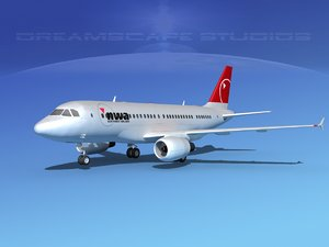 3d scale airbus a319 airliner