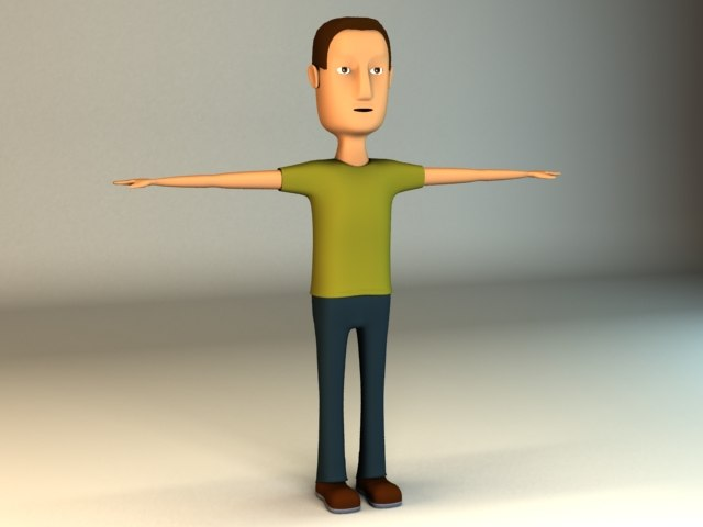 man cartoon 3d max