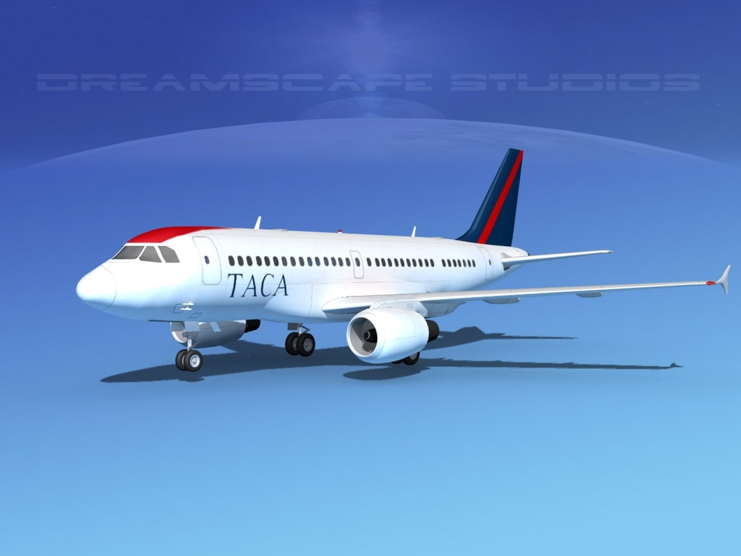 3d max scale airbus a319 airliner