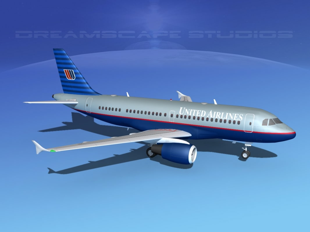 3d model scale airbus a319 airliner