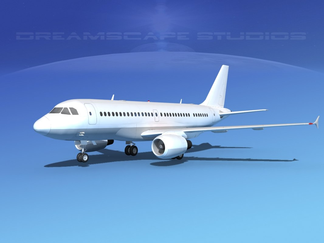 scale airbus a319 3d 3ds