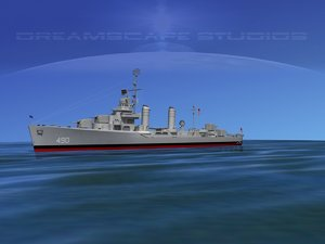 3d anti-aircraft destroyers class gleaves model