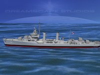 anti-aircraft destroyers class gleaves 3d 3ds