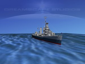 3d model of anti-aircraft destroyers class gleaves