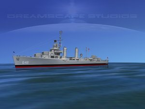 3d model anti-aircraft destroyers class gleaves
