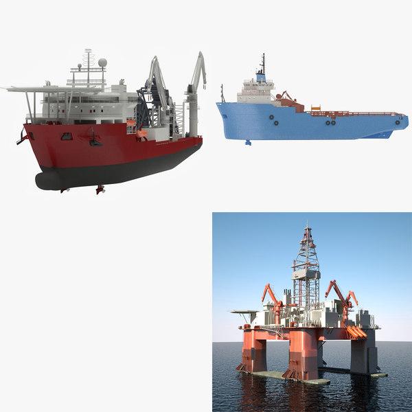 ship vessel 3d model