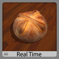 pan muerto bread 3d model