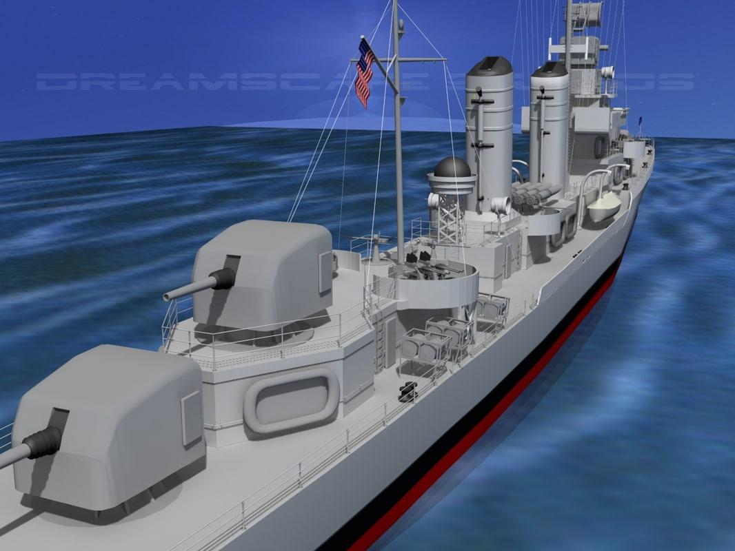 3d model anti-aircraft class destroyers