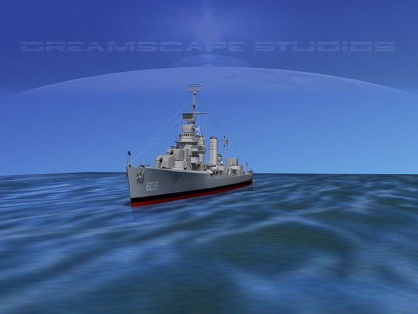 3d model anti-aircraft class destroyers