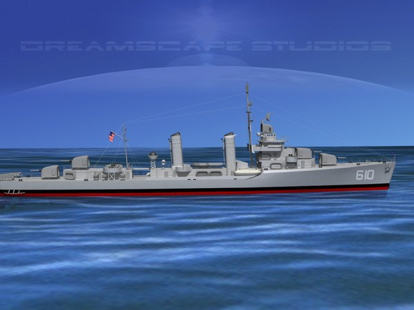 3d model of anti-aircraft class destroyers
