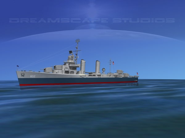 anti-aircraft class destroyers 3d 3ds