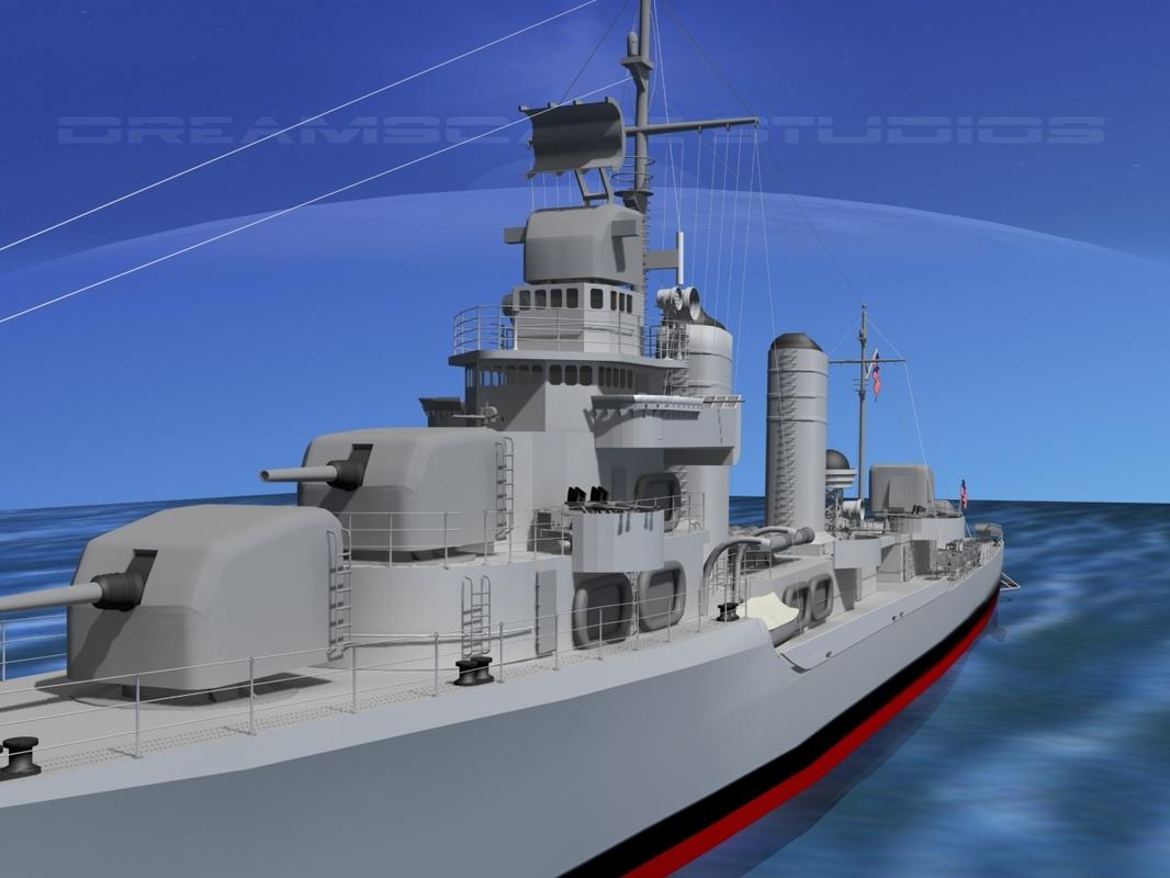 3d anti-aircraft class destroyers model