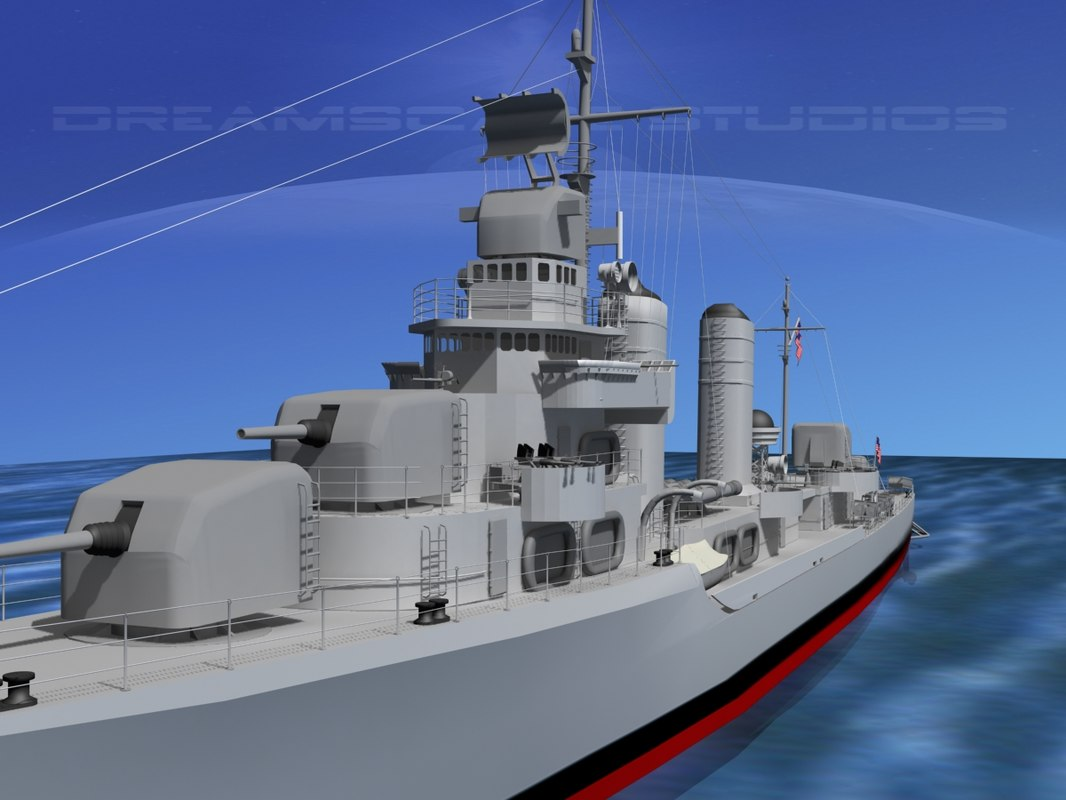 3d anti-aircraft class destroyers model