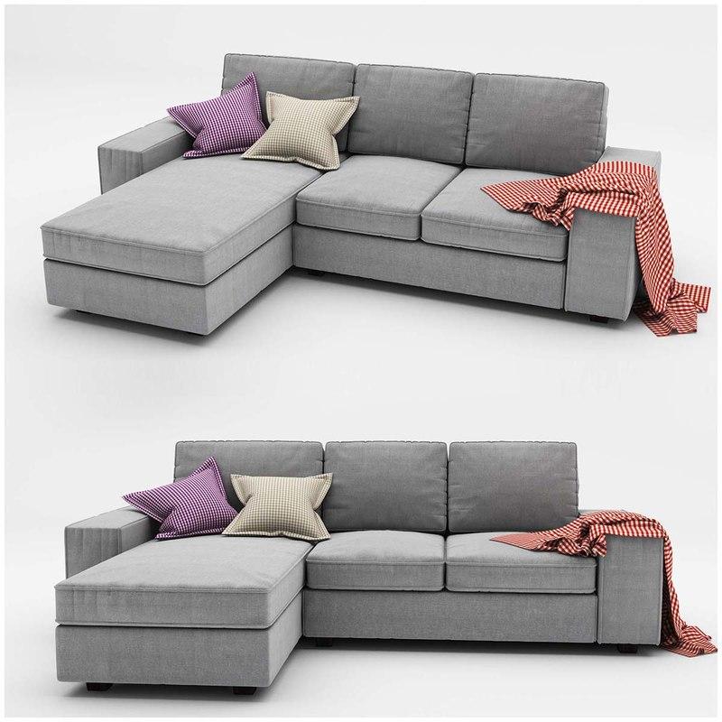 kivik 3 ikea sofa 3d model