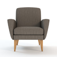 3d model century club chair