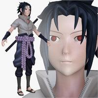 sasuke shippuden 3d model