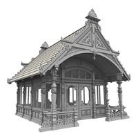 3d model solidworks summer house