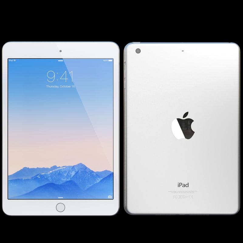3d max realistic apple ipad mini