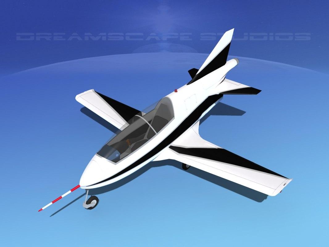 plane bd-5 bede bd-5j 3d dxf