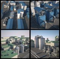 3d model sugar factory
