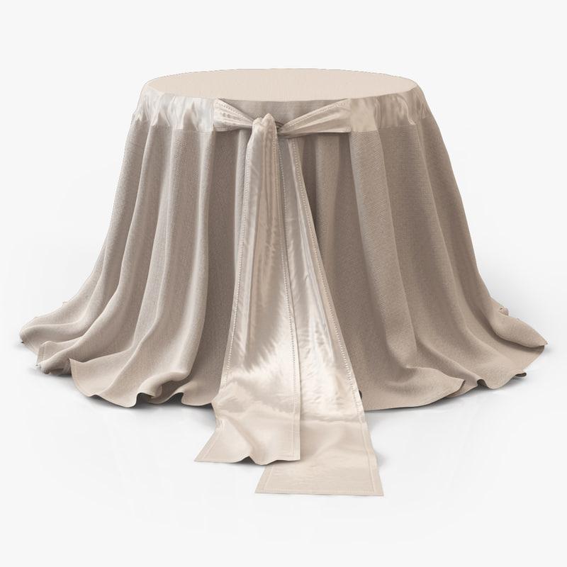 bedside table cloth 3d model