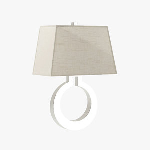 3d model visual large ring wall sconce