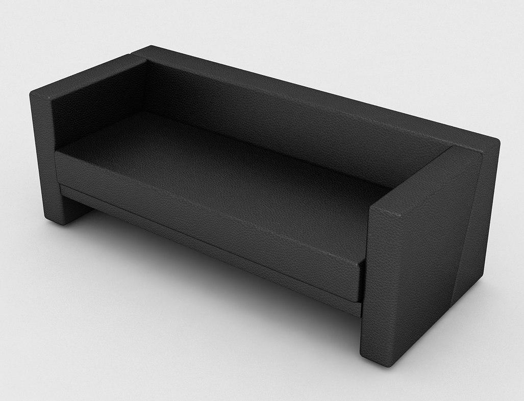 3d model office sofa