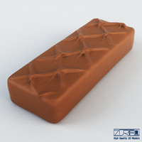 milky way chocolate bar obj