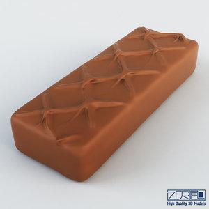 milky way chocolate bar obj