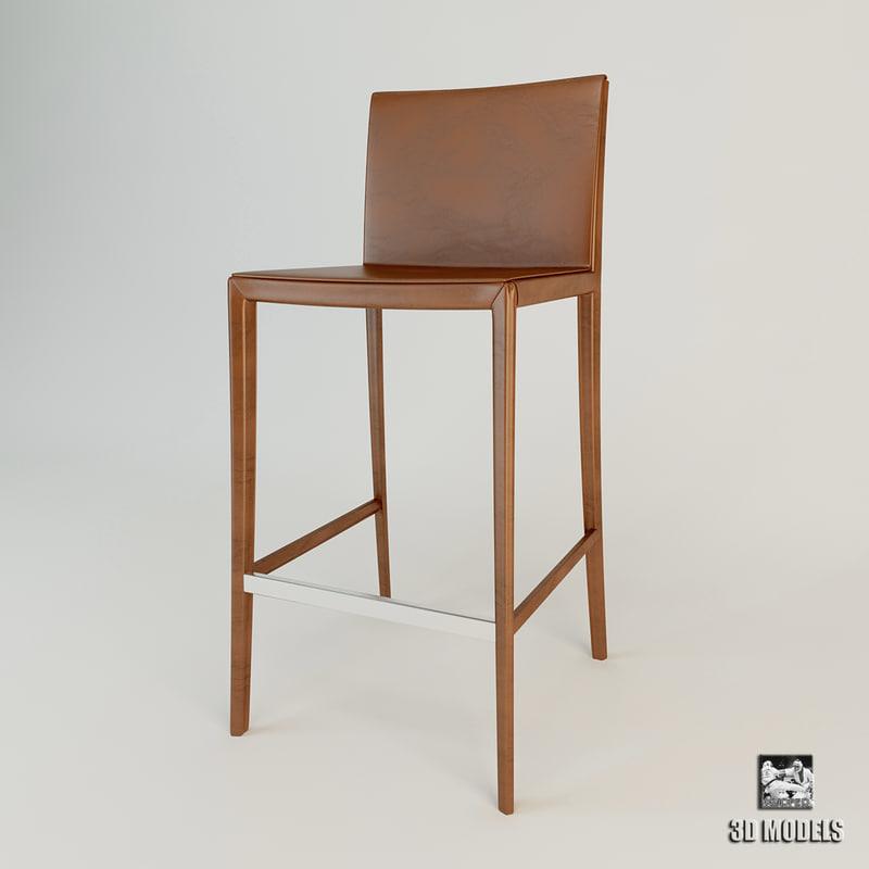 3ds max bar chair zanotta leo