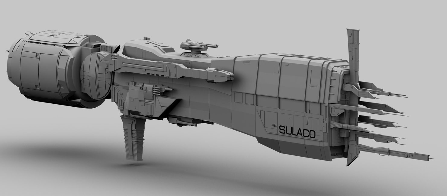 3d model uss sulaco