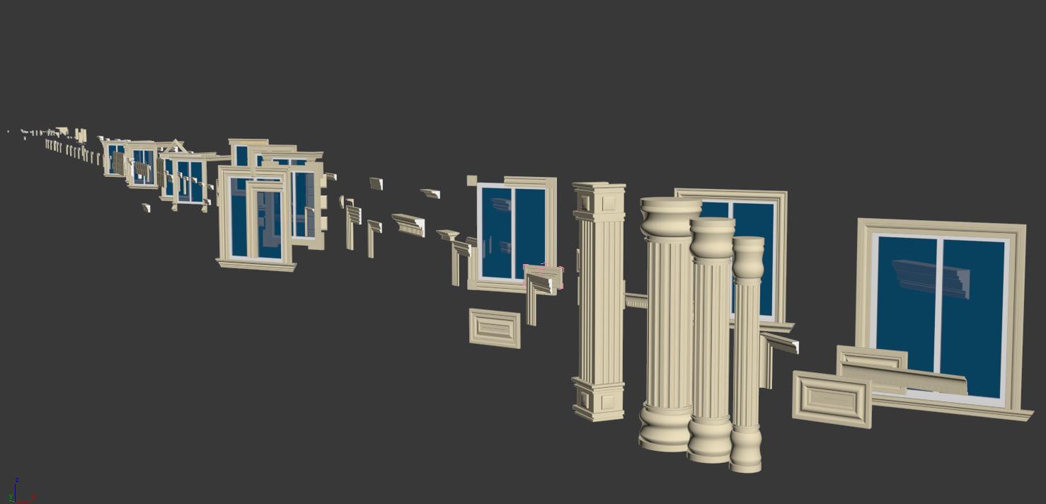 3d architectural exterior decor model
