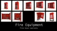 hose cabinets 3d model