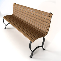 wooden bench wood 3d max