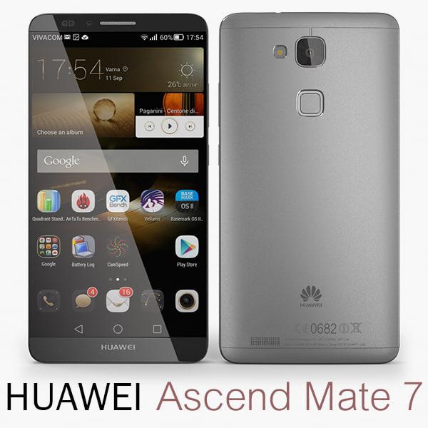 3d model huawei ascend mate 7