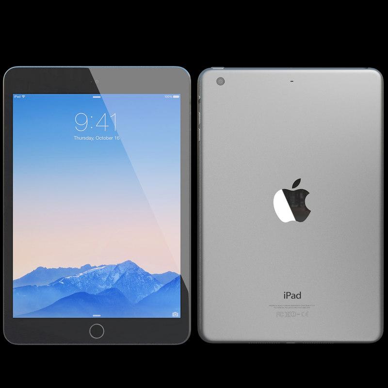 3d model realistic apple ipad mini