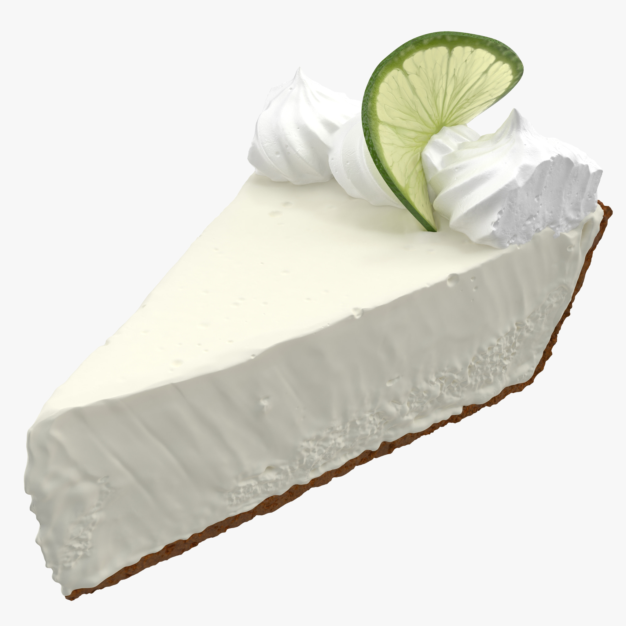 3d key lime pie model