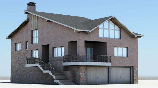 detached house 3d model