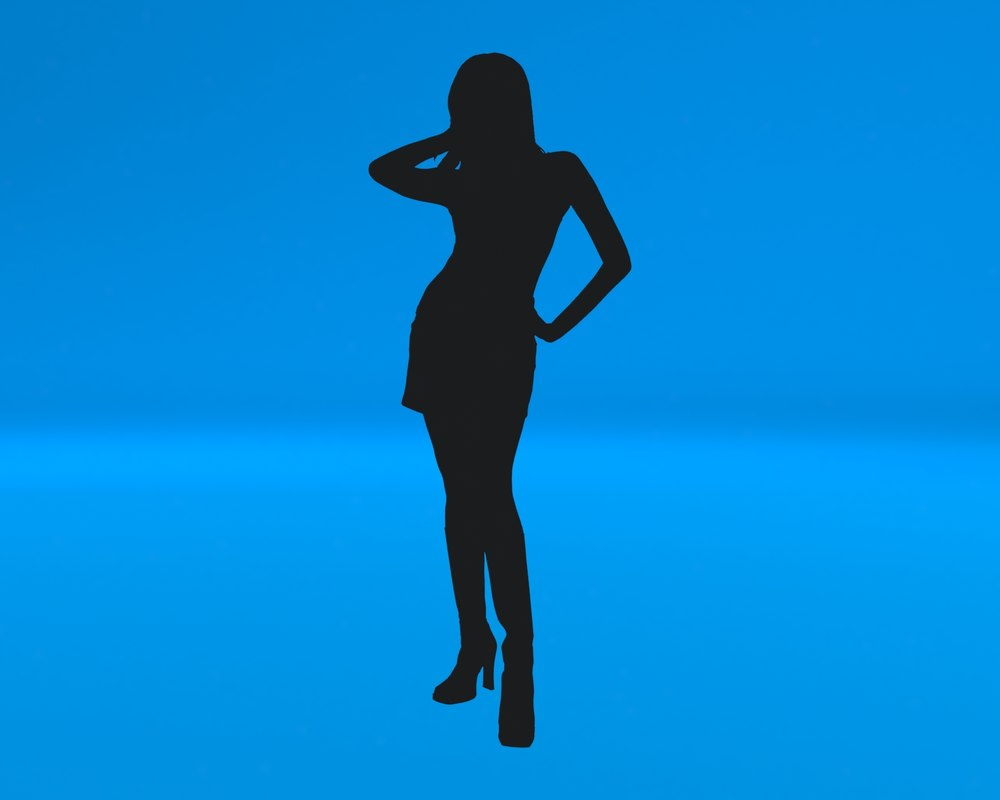 3d woman light model