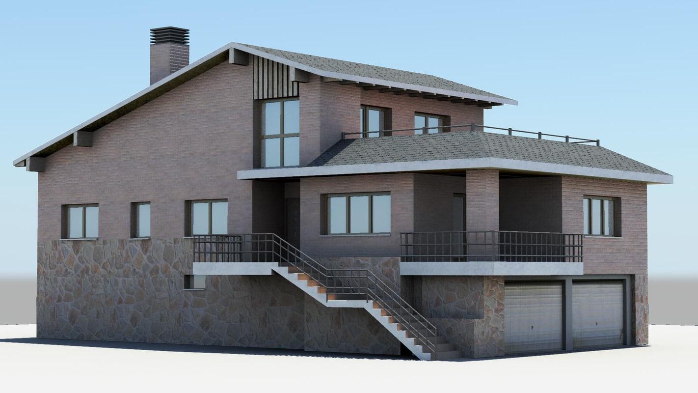 detached house 3d ma