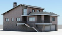 detached house 3d ma