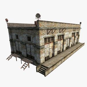 3dsmax old soviet building