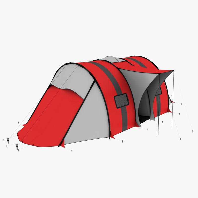 realistic camping tent max