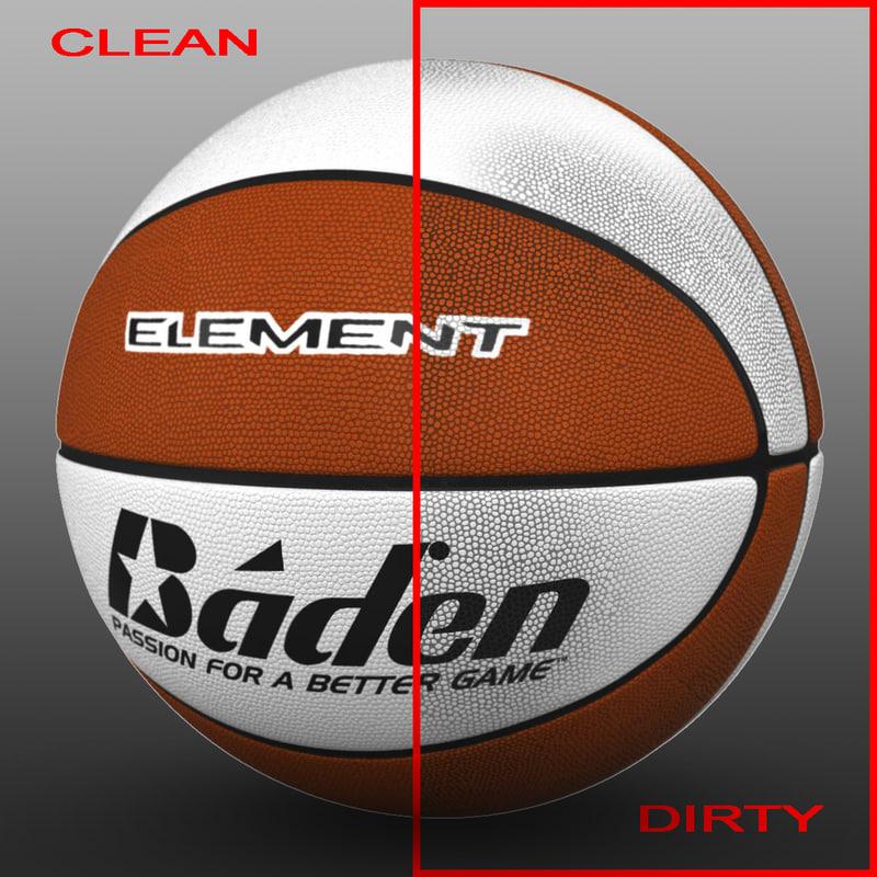 basket ball 3d max