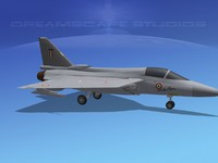 tejas hal fighter 3d model