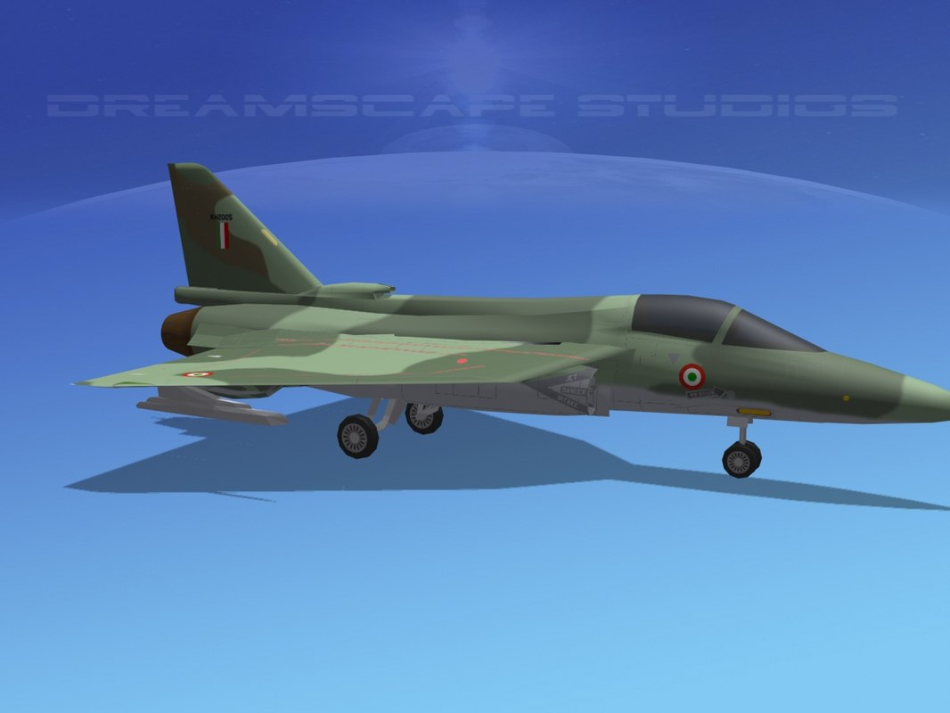 3d tejas hal fighter model